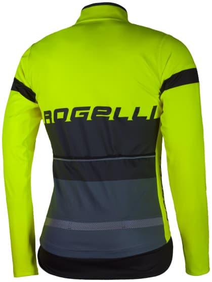 Vodoodolný cyklodres s ochranou chrbta Rogelli HYDRO s dlhým rukávom, reflexný žltý