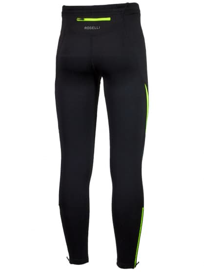 Bežecké nohavice Rogelli DUNBAR, čierno-reflexno žlté