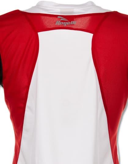 Dámske funkčné tričko Rogelli EABEL, bielo-červeno-čierne