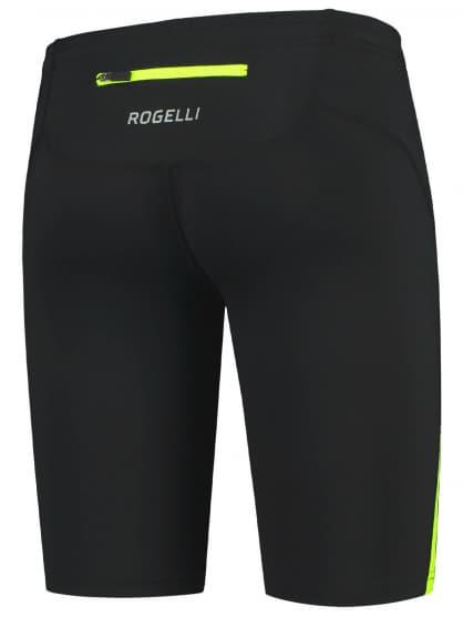 Bežecké kraťasy Rogelli DIXON, čierno-reflexno žlté
