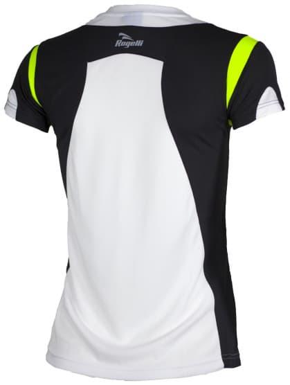 Dámske funkčné tričko Rogelli EABEL, bielo-čierno-reflexné žlté