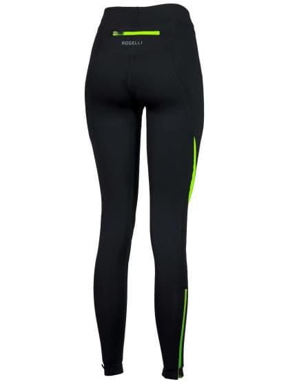 Dámske bežecké nohavice Rogelli EMNA, čierno-reflexné žlté