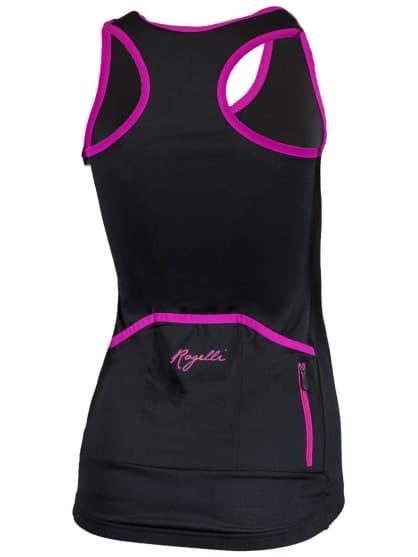 Dámske športové tielko Rogelli ABBEY, čierno-ružové