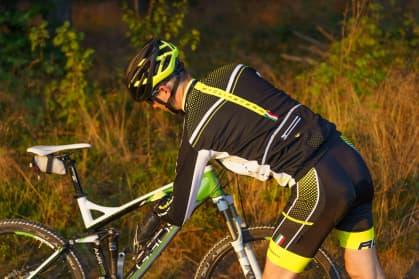 Cyklistický dres Rogelli GARA MOSTRO s dlhým rukávom, reflexný žltý