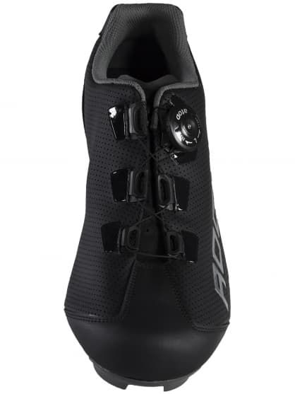 Kožené cyklistické topánky Rogelli AB410, čierno-šedé