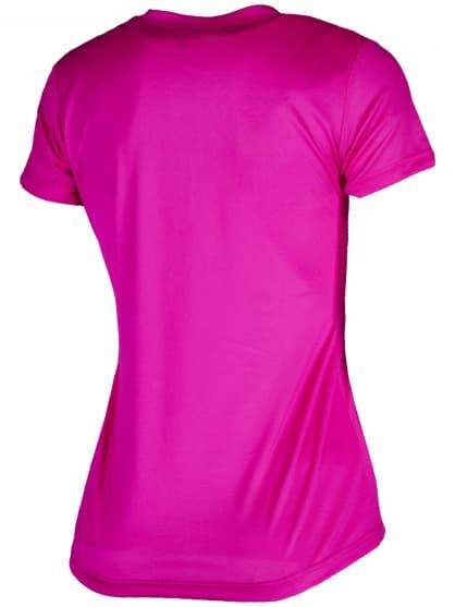 Dámske funkčné tričko Rogelli PROMOTION Lady, reflexné ružové