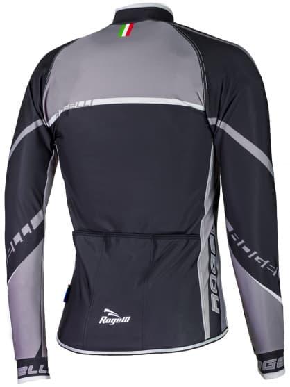 Cyklistický dres Rogelli ANDRANO 2.0 s dlhým rukávom, čierno-šedý