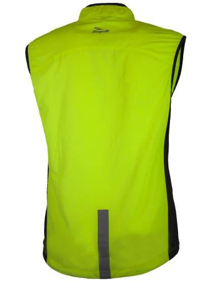 Bežecká vesta s priedušnými bočnými panelmi Rogelli STRIKE, reflexná žltá