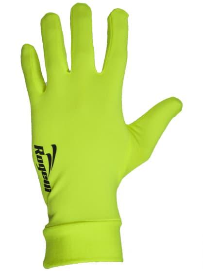 Extra tenké športové rukavice Rogelli OAKLAND, reflexné žlté