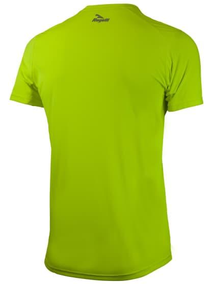 Športové funkčné tričko Rogelli BASIC z hladkého materiálu, reflexné žlté