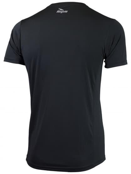 Športové funkčné tričko Rogelli BASIC z hladkého materiálu, čierne