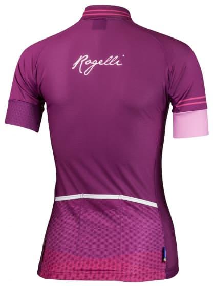 Ultraľahký dámsky cyklodres Rogelli STELLE s krátkym rukávom, vínový