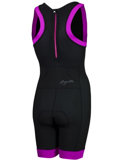 Dámska luxusná triatlonová kombinéza Rogelli TAUPO, čierno-ružová
