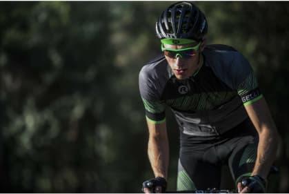 3f03ab20b ... zelené Cyklistické okuliare Rogelli MERCURY s výmennými sklami, zelené