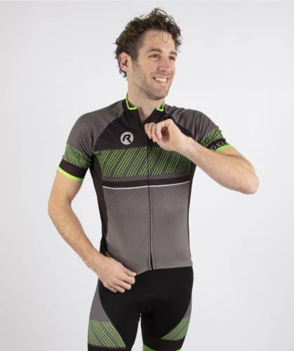 ef68f442ff632 ... Pánske cyklistické oblečenie Rogelli RITMO, čierno-zelené