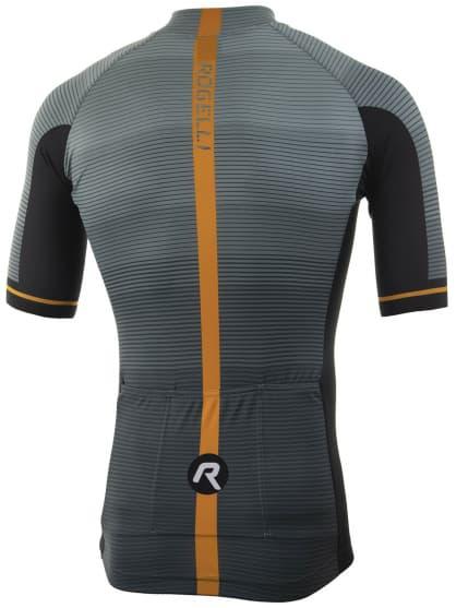 59d296ca4abbc ... Aerodynamický cyklodres Rogelli PENDENZA s krátkym rukávom,  šedo-oranžový