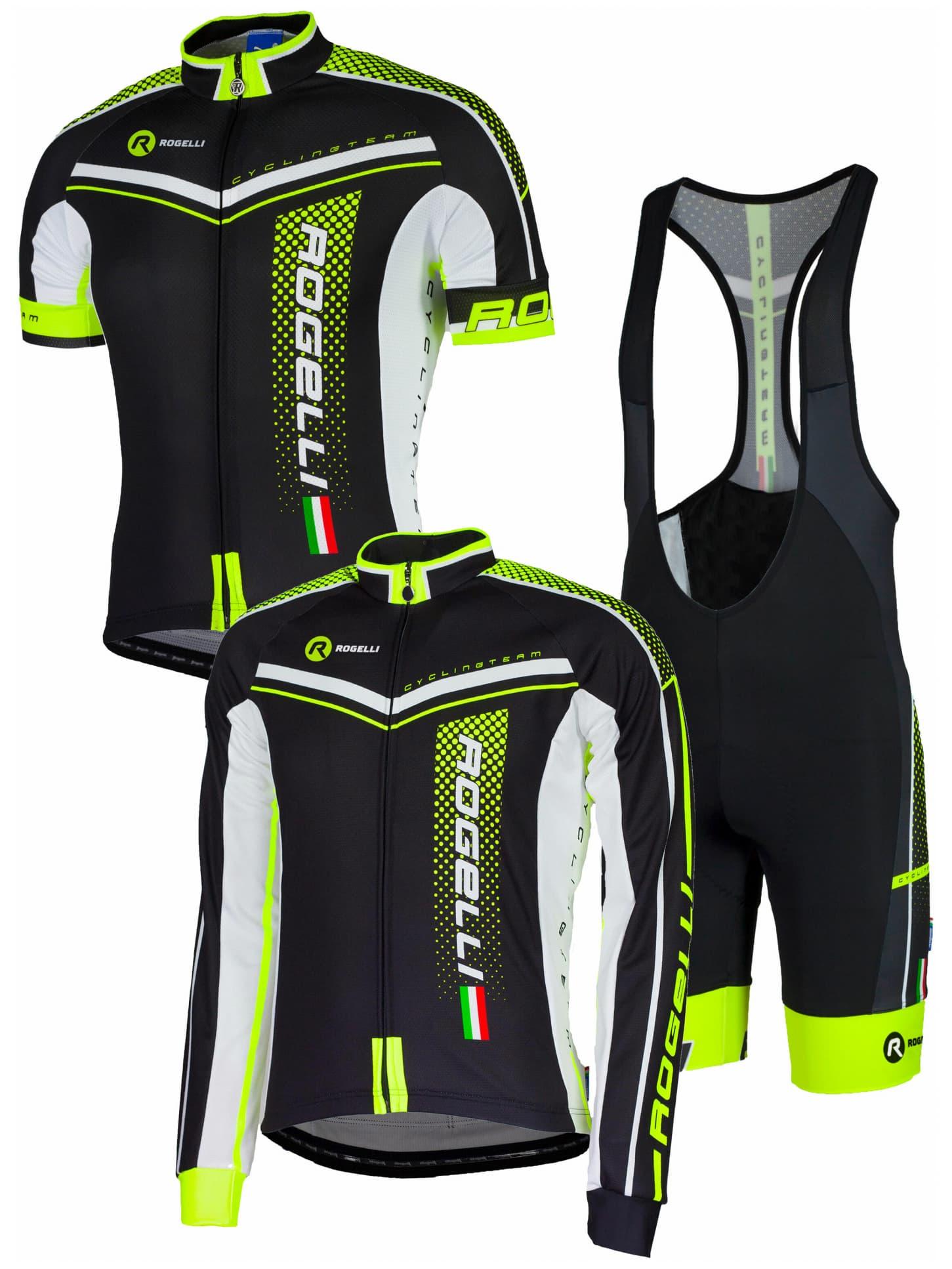 d8474012b6357 Letné cyklistické oblečenie Rogelli GARA MOSTRO, reflexné žlté ...