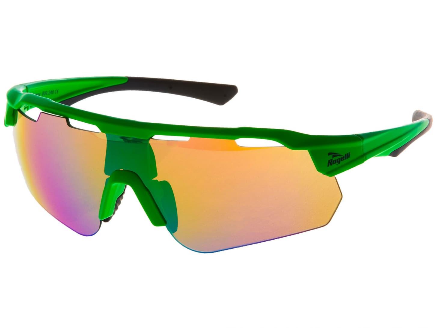a44644c40 Cyklistické okuliare Rogelli MERCURY s výmennými sklami, zelené ...