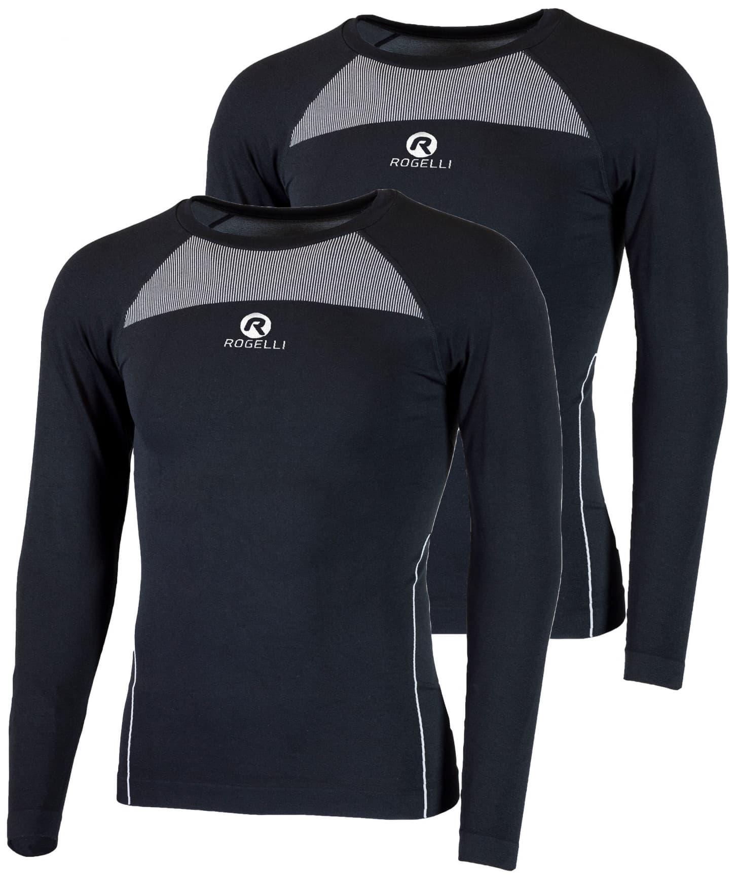 2e0fe5650 Funkčné termo tričká Rogelli CORE s dlhým rukávom - 2 kusy v balení, čierne