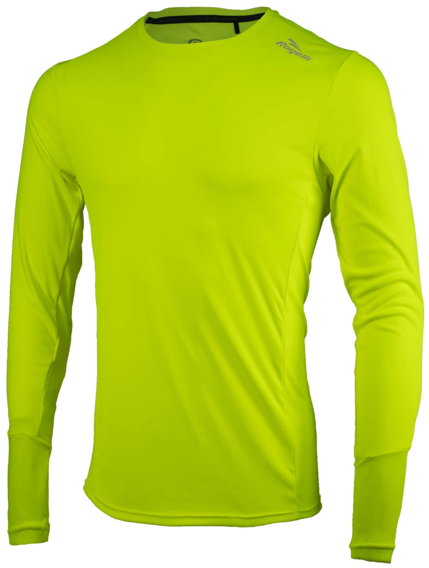 e2b435c5e Športové funkčné tričko Rogelli BASIC s dlhým rukávom, reflexné žlté ...
