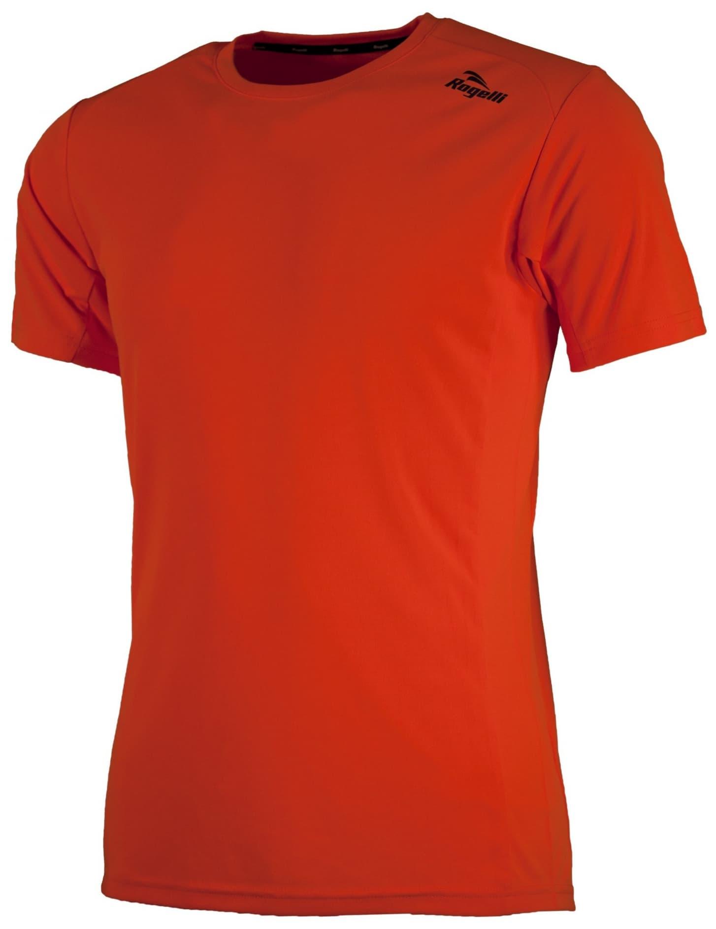 85ebc9da5 Športové funkčné tričko Rogelli BASIC z hladkého materiálu, oranžové ...