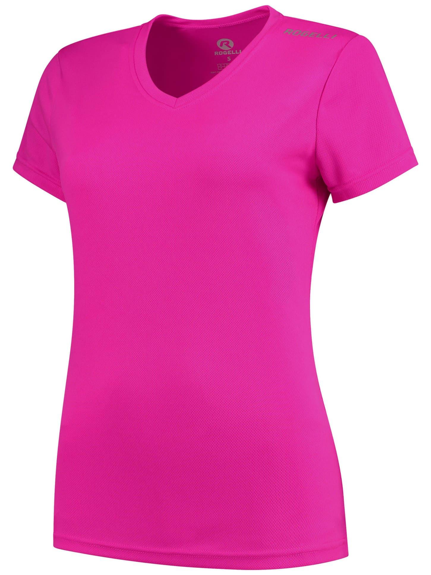 7e851a4f7 Dámske funkčné tričko Rogelli PROMOTION Lady, reflexné ružové ...