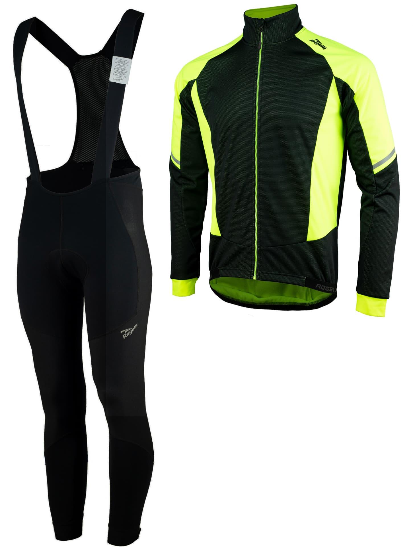 2889b85b67216 Zimné cyklistické oblečenie Rogelli UBALDO 3.0, reflexné žlté ...