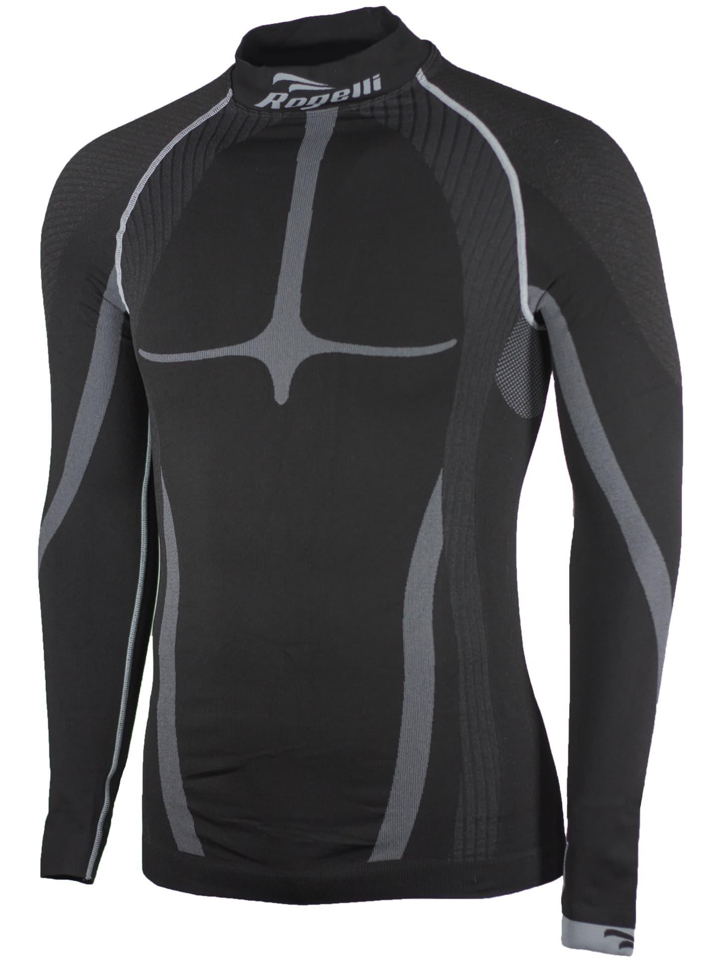 9e58c9640 KOMPRESNÉ funkčné tričko Rogelli, dlhý rukáv, čierno-šedé | Rogelli.sk