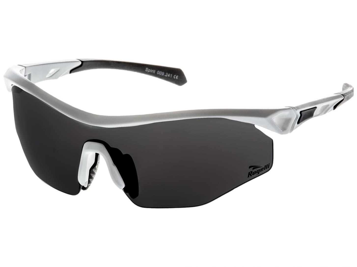 4c7a1cbf9 Cyklistické športové okuliare Rogelli SPIRIT s výmennými sklami, biele