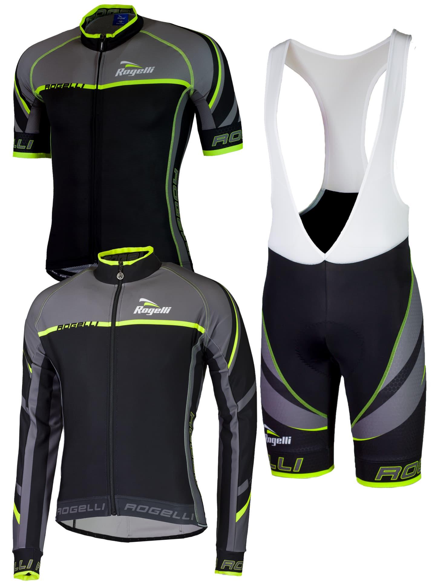 34605142623e0 Cyklistické oblečenie Rogelli ANDRANO 2.0, čierno-reflexné žlté ...