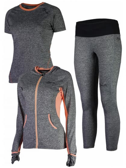 c3d818559ad7d Dámske športové oblečenie ROSETTA 7/8, šedo-oranžové. ‹ ›
