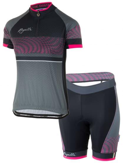 2d0e4470c4e15 Cyklistické oblečenie dámske Rogelli BELLA, čierno-ružové ...