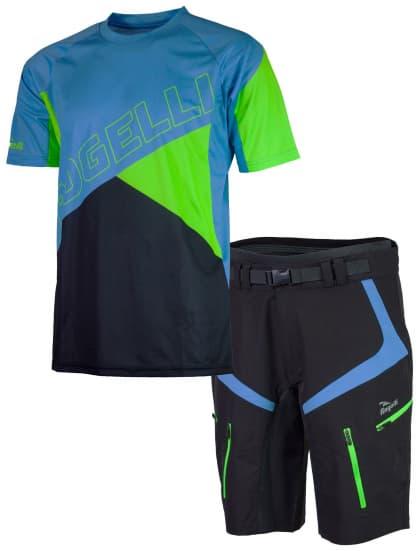 00222af54368b MTB cyklooblečenie Rogelli ADVENTURE pánske, modré