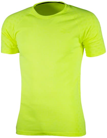 Funkčné bezšvové tričko Rogelli SEAMLESS, reflexné žlté