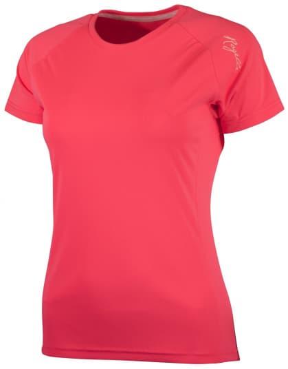 Dámske športové funkčné tričko Rogelli BASIC z hladkého materiálu, reflexné ružové