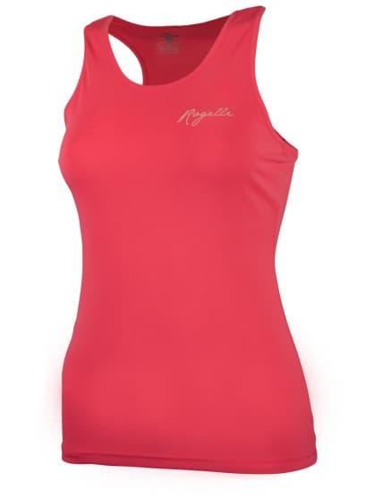 Dámske športové funkčné tielko Rogelli BASIC z hladkého materiálu, reflexné ružové
