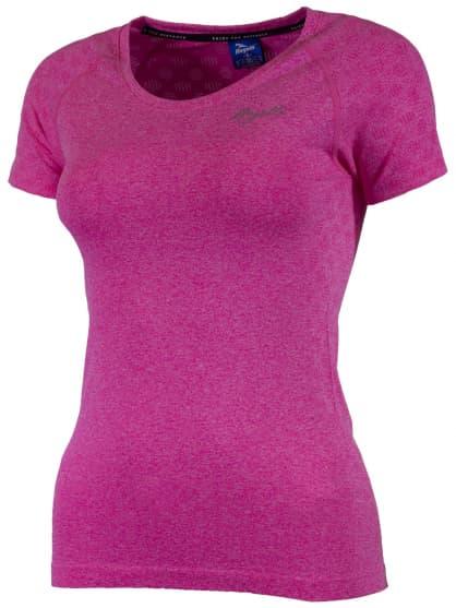 Dámske funkčné bezšvové tričko Rogelli SEAMLESS, ružový melír