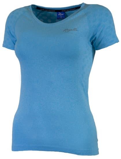 Dámske funkčné bezšvové tričko Rogelli SEAMLESS, modrý melír