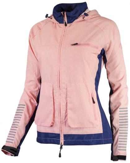 Dámska bežecká bunda Rogelli DESIRE, modrá-ružový melír