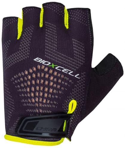 Cyklo rukavice Chiba BIOXCELL SUPER FLY, čierno-reflexné žlté