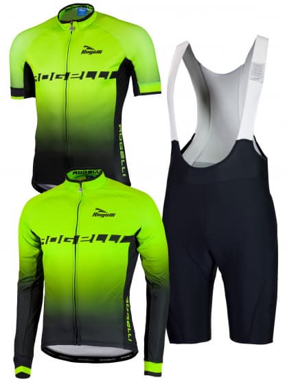Cyklo oblečenie Rogelli ISPIRATO, reflexná zelená