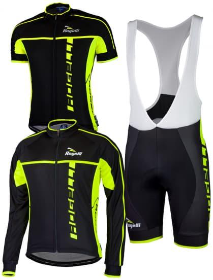 Cyklistické oblečenie Rogelli UMBRIA 2.0, čierne-reflexné žlté