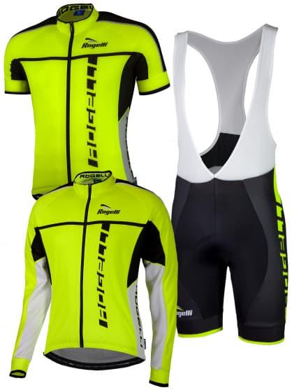 Cyklistické oblečenie Rogelli UMBRIA 2.0, reflexné žlté