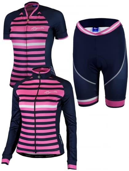 Dámske cyklistické oblečenie Rogelli ISPIRA, ružovo-modré