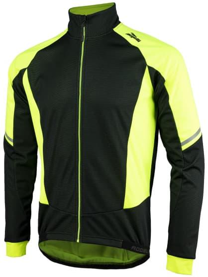 Membránová zimná bunda s hrubým zateplením Rogelli UBALDO 3.0, reflexná žltá-čierna