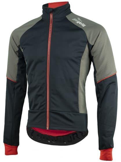 Softshellová bunda s hrubým zateplením Rogelli TRANI 4.0 s priedušným chrbtovým panelom, čierno-červená