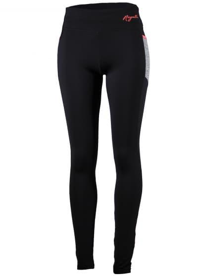 Dámske bežecké nohavice Rogelli DYNAMIC s ľahkým zateplením, čierno-šedo-reflexné ružové
