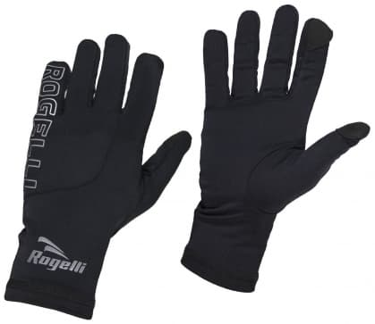 Pánske bežecké zimné rukavice Rogelli TOUCH, čierne