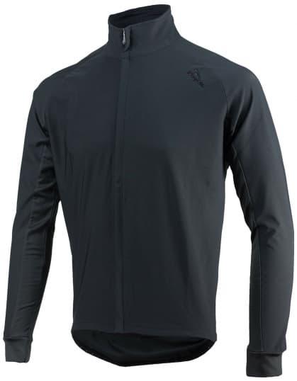 Vode a vetru odolný cyklistický dres s dlhým rukávom Rogelli ALL SEASONS so softshellom a DWR, čierny