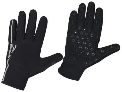 Vetru a dažďu odolné rukavice Rogelli NEOPRENE chránia pred chladom, čierne